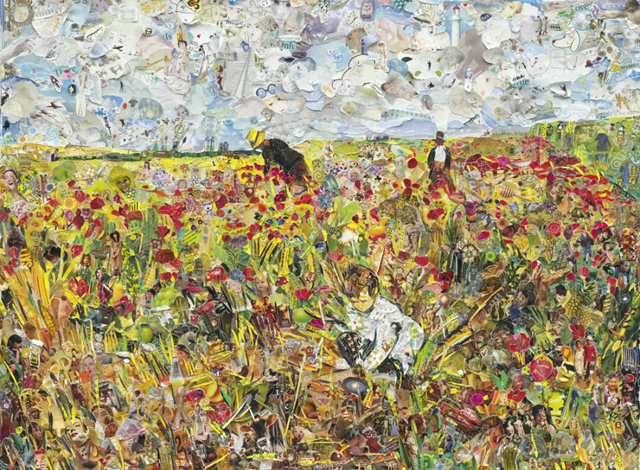 Picking Flowers in a Field, after Mary Cassatt (Pictures of Magazine 2)