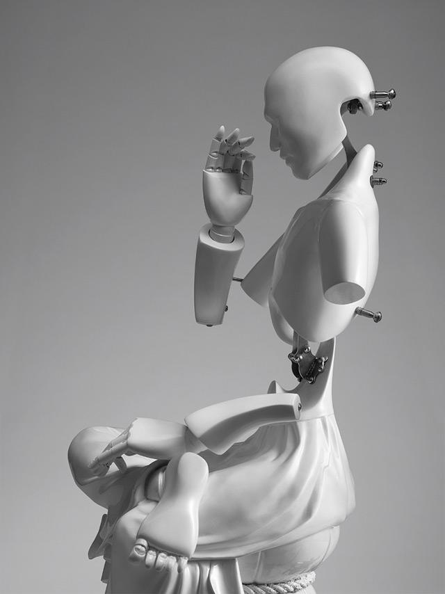 Meditating cyborgs by Ziwon Wang