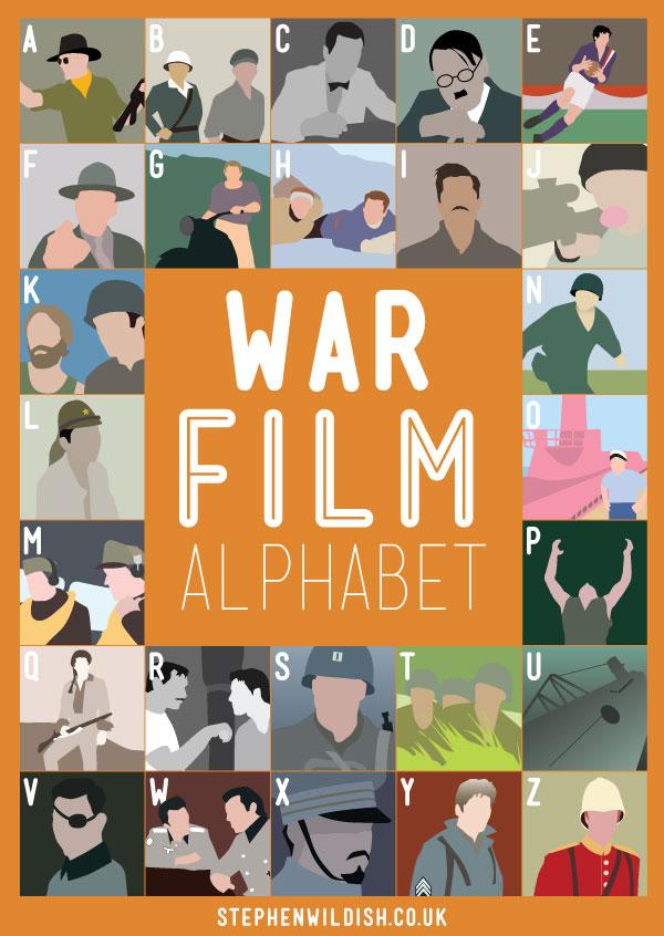 war film alphabet poster quizzes your war movie knowledge. Black Bedroom Furniture Sets. Home Design Ideas