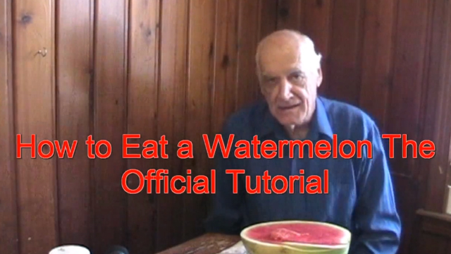 How to Eat a Watermelon, A Tutorial by Tom Willett