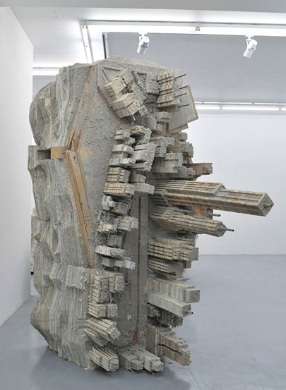 Cityscape sculptures by Liu Wei