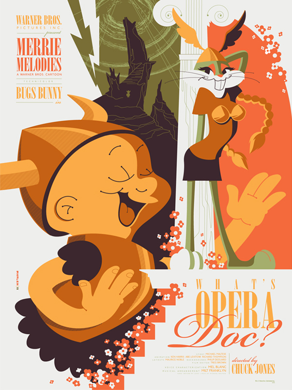 What's Opera Doc?, A Looney Tunes Poster Design by Tom Whalen