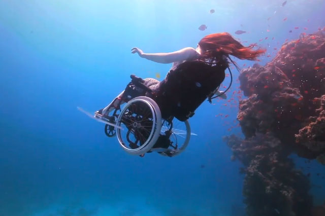 Underwater wheelchair by Susan Austin
