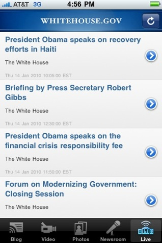 White House iPhone App