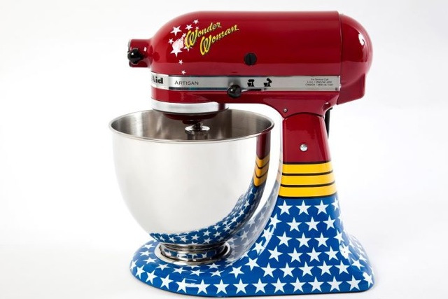 wonder woman kitchenaid stand mixer. Black Bedroom Furniture Sets. Home Design Ideas