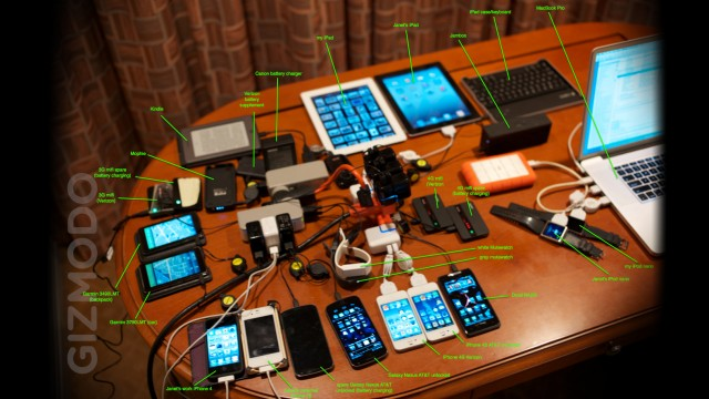 The contents of Steve Wozniak's uber travel backpack
