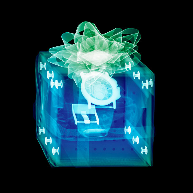 X-ray photos of Christmas Presents
