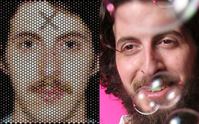 Pill Popped Op Art, Scott Blake's Self-Portrait in Ecstasy