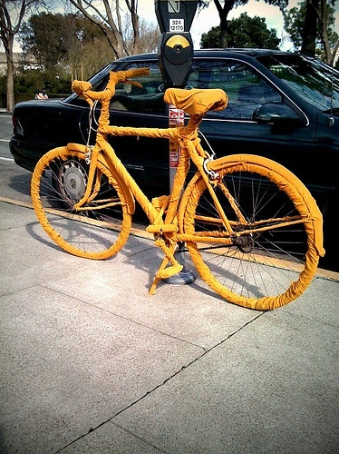 corduroy wrapped bike