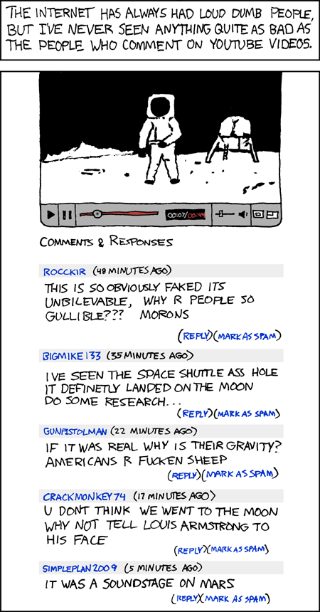 XKCD Comic on YouTube Comments