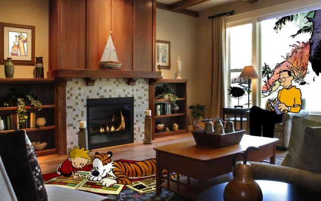 Calvin & Hobbes walls