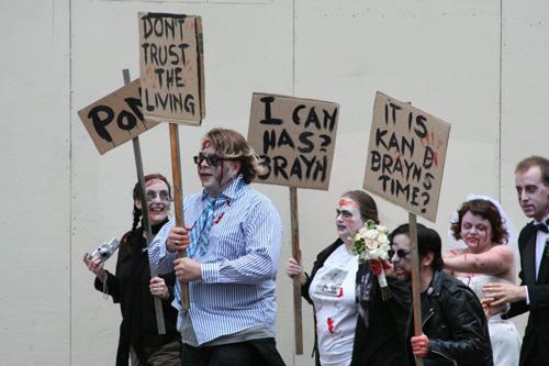 Zombies attack San Francisco