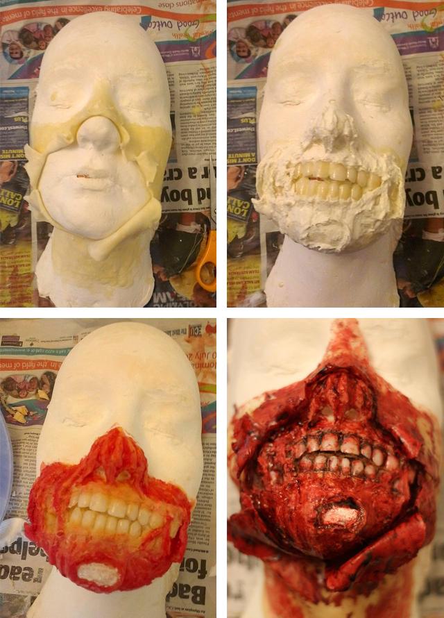 Zombie Audrey Hepburn Halloween Costume Process by Kiana Jones